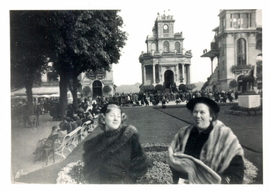 My mother and her mother, my grandmother in Paris.