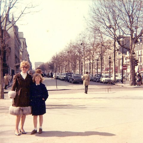 My first trip to Paris with my mother.
