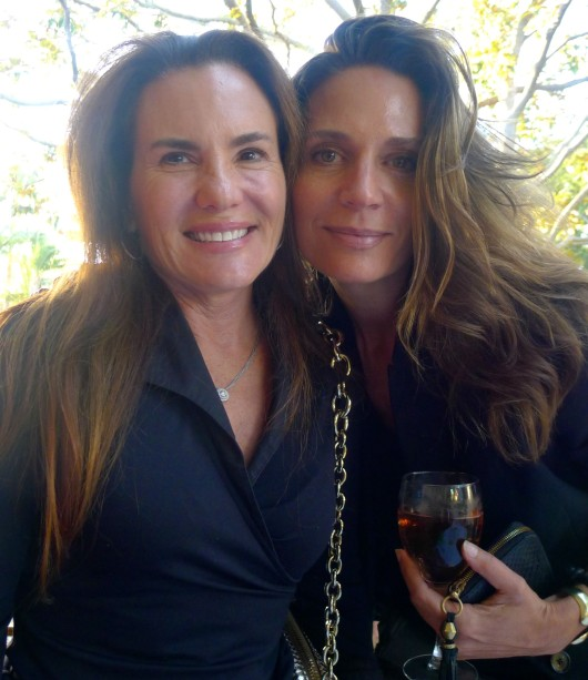 Co-hostess Kendall Conrad and Maria Bushkin Stave.