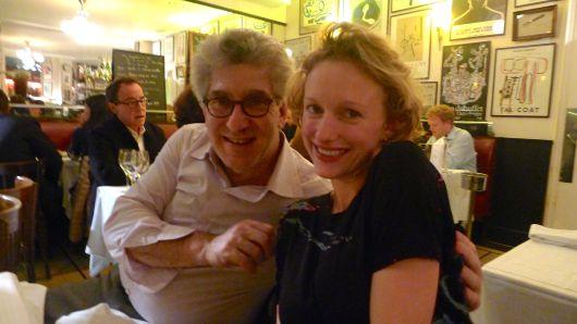 My husband Glenn and Sylvia Whitman at dinner.