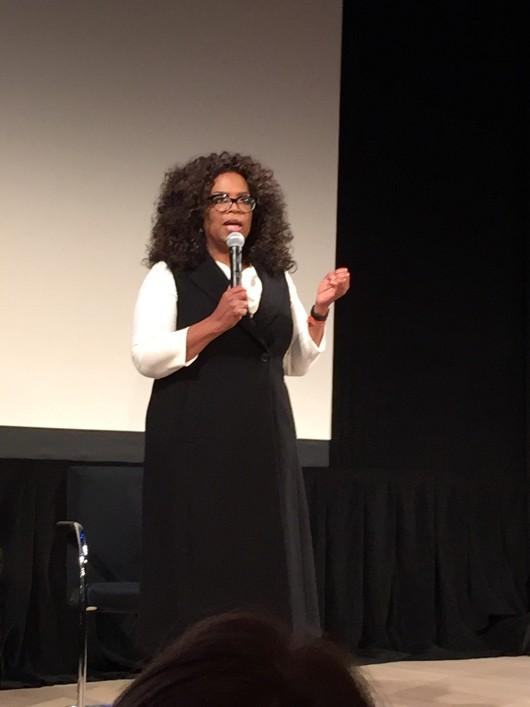Oprah announcing the film.